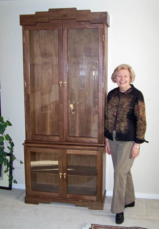 Judy and finished cabinet