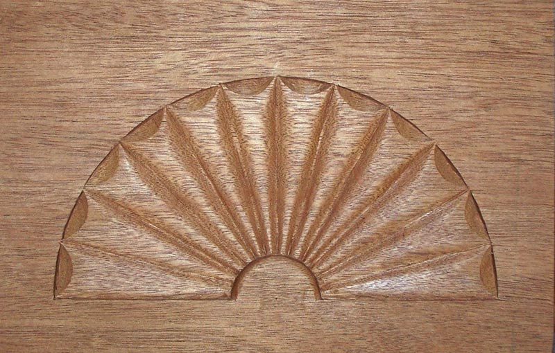 Carved early American fan