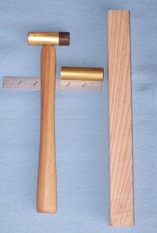 Small brass hammer materials