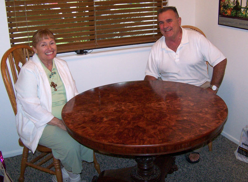 Jack and Penny with their table